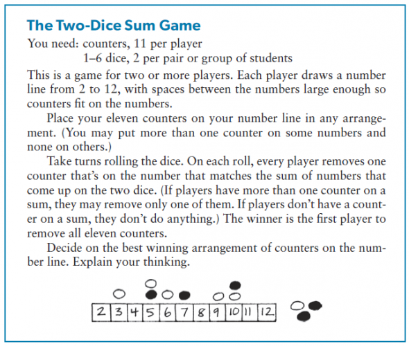 2 dice are rolled probability sampling strategy education